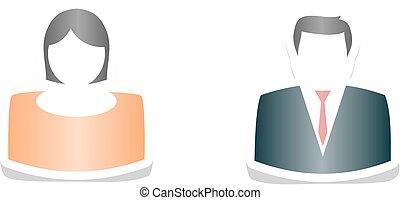 Profile male and female - A profile image of male and...
