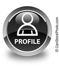 Profile (member icon) glossy black round button