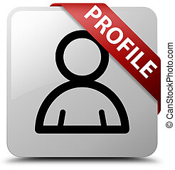 Profile (member icon) white square button red ribbon in corner