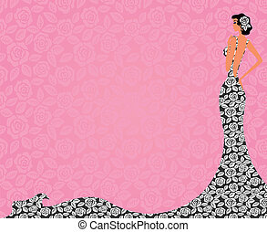 Profile of a beautiful bride