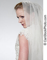 Profile of a Bride wearing a veil - Profile of a Bride