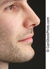 profile of a manly face