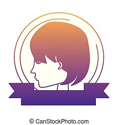 Profile of a woman design