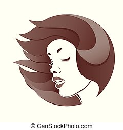 Profile of a woman s face.