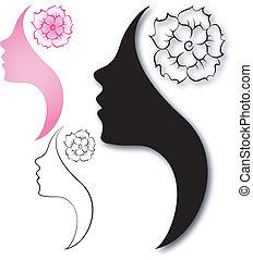 Profile of beautiful girl