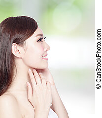 beauty woman with health skin