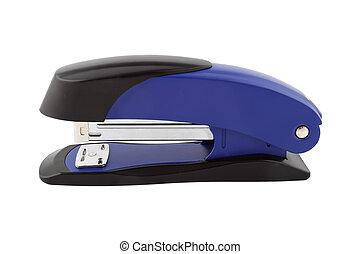 profile of blue stapler isolated