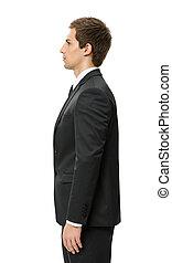 Profile of businessman