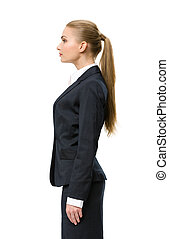 Profile of female business man