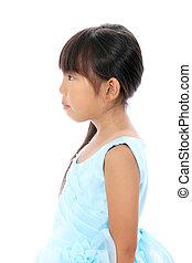 Profile of little Asian girl