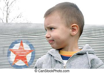profile of lour boy