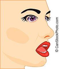 Profile of the beautiful girl