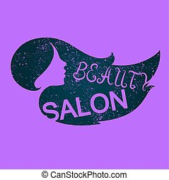 Profile of the girl beauty salon