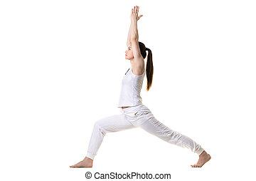 Profile of Warrior 1 Yoga Pose