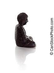 profile of wisdom buddha isolated on a white background