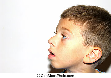 Profile - Photo of a Childs Side Profile With Whitespace.