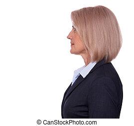 Profile portrait of a senior businesswoman