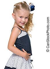 Profile portrait of an adorable little girl