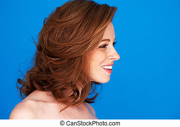 Profile Pretty Redhead Woman