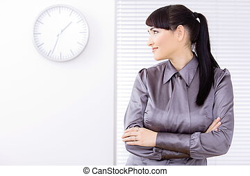Profile prortrait of businesswoman