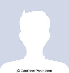 profile., vektor, internet, avatar, sozial