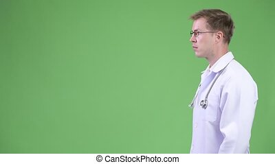 Profile View Of Young Man Doctor