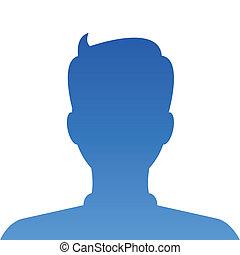 profile., wektor, internet, avatar, towarzyski
