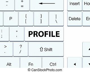Profile white keyboard button