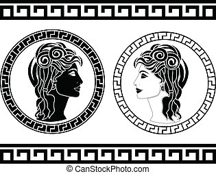 profiles of roman woman