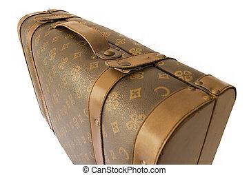 profilo, bagaglio, marrone