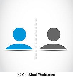 profilo, conversazione, persone