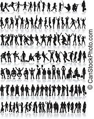 profilo, differente, persone, grande, collezione, 1, vitale, situazioni