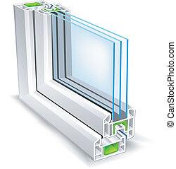 profilo, finestra