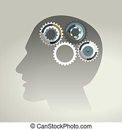 profilo, head., umano
