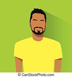 profilo, ispanico, avatar, ritratto, maschio, casuale, icona