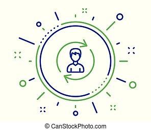 profilo, segno., vettore, utente, umano, linea, icon., risorse