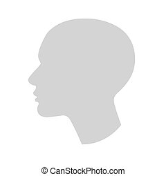 profilo testa, anonimo, umano, silhouette