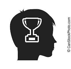 profilo, testa, educazione, umano, icona