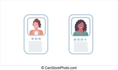 profils, étoiles, gens, classement, id, business