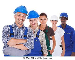 profissões, diverso, representando, pessoas