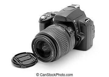 profissional, câmera, foto