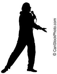 profissional, cantor, músico