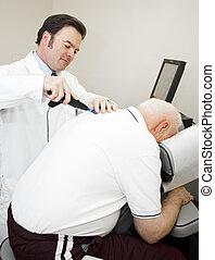 profissional, chiropractic, cuidado