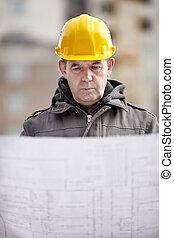 profissional, construção