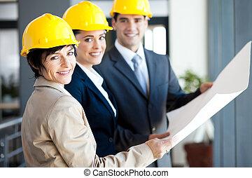 profissional, construção, gerentes