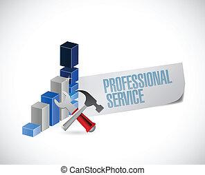 profissional, desenho, serviço, ilustração, sinal