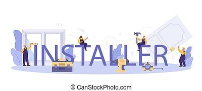 profissional, janela, porta, instalador, tipográfico, header.