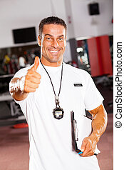 profissional, macho, escola, atletismos treinam