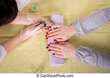 profissional, manicure, esteticista