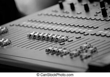 profissional, misturador audio